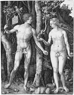 300px-Adam_Eva,_Durer,_1504