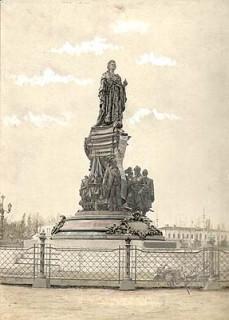 Эскиз памятника Екатерины II в Краснодаре