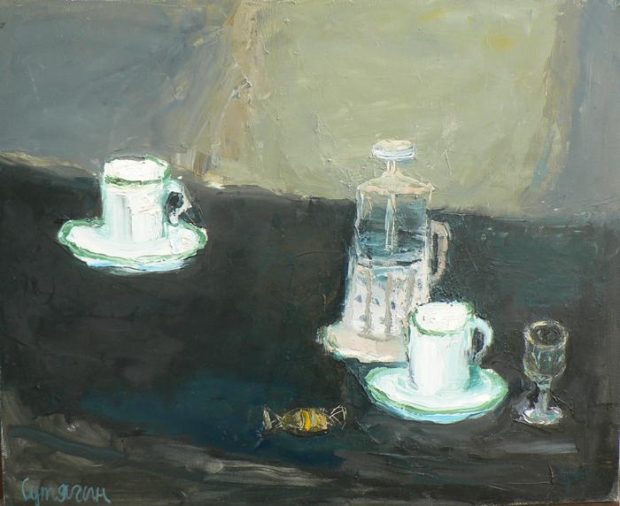 чайный натюрморт, 2010, 50х60