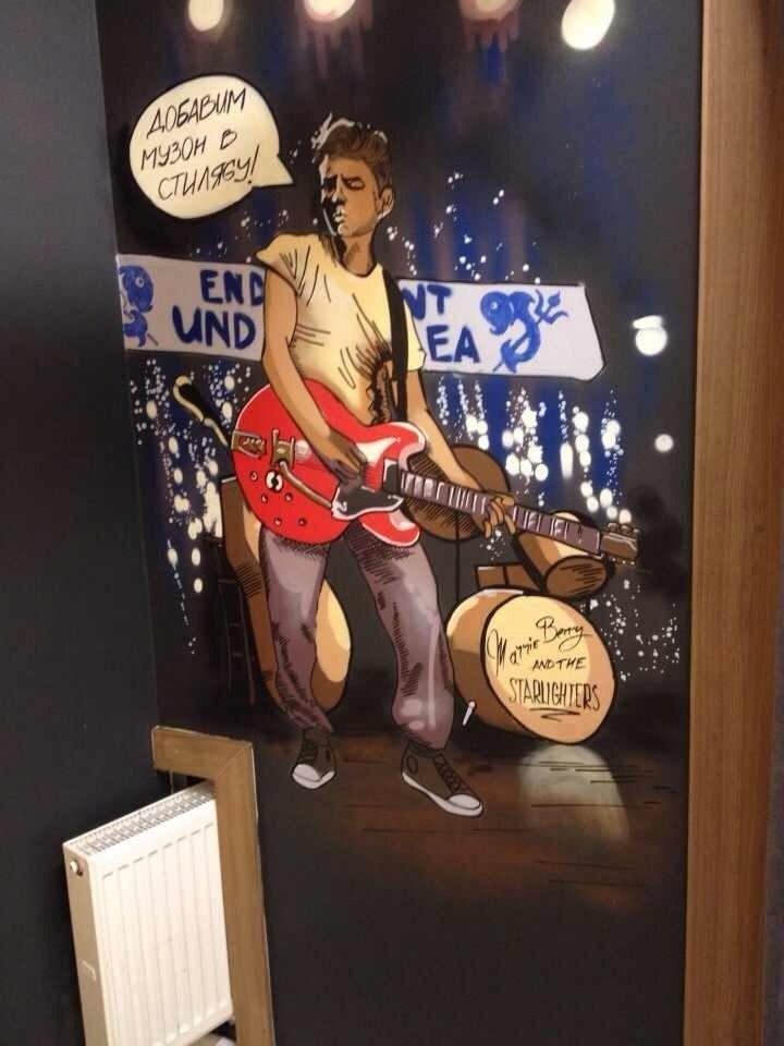 граффити оформление в магазине