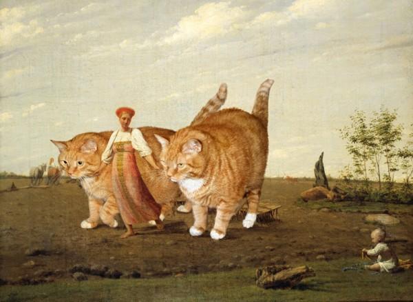 venetsianov_aleksey-in-the-ploughed-field-cat_w