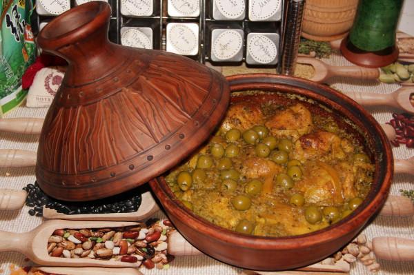 Тажин из курицы с лимоном и оливками_1