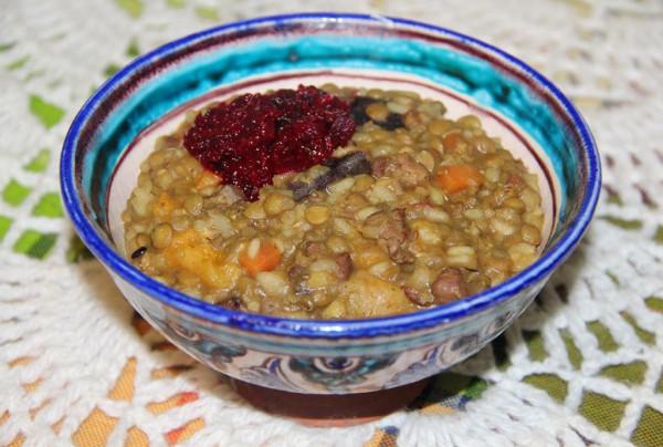Кичири из маша риса и чечевицы