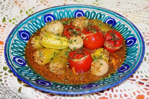 Дулма из овощей с тресковым фаршем_1