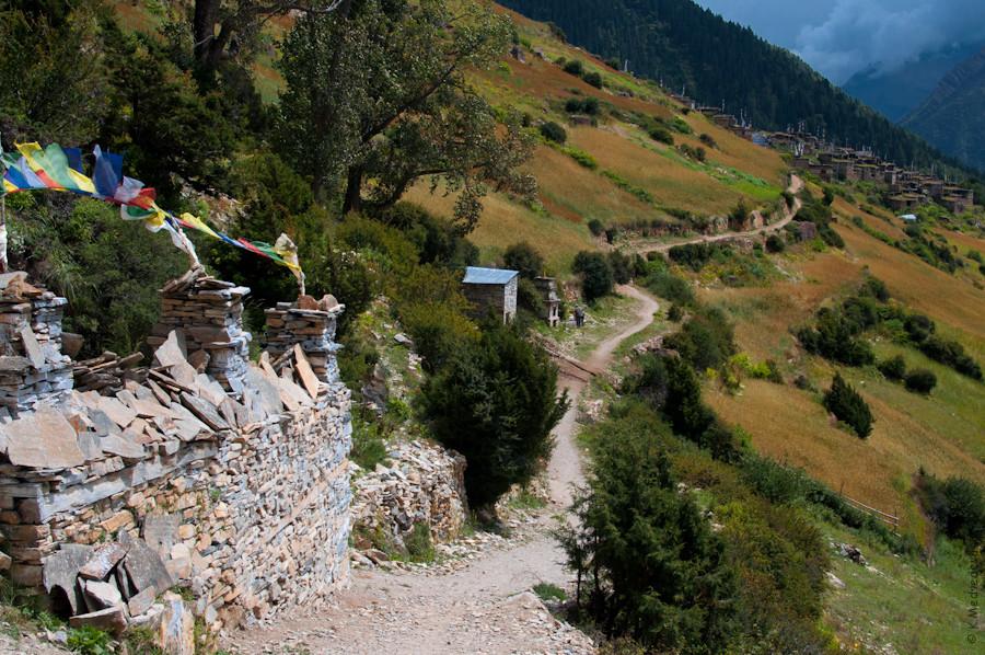 Дорога по склону
