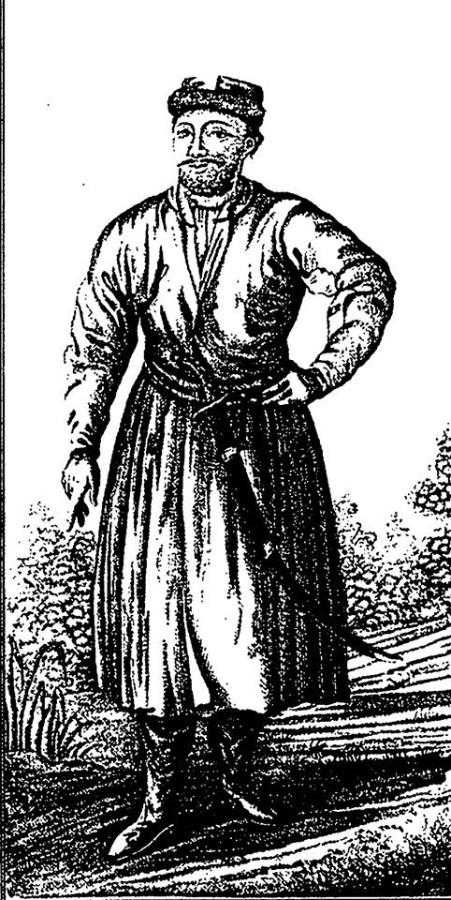 Донской казак из работы Гюльденштедта Путешествие по Кавказу 1770 г