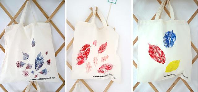 leaf print bags