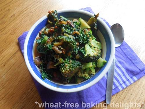 Brokkoli, mushroom and lentil stew 1