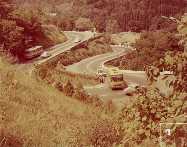 На автостраде Сочи - Батуми