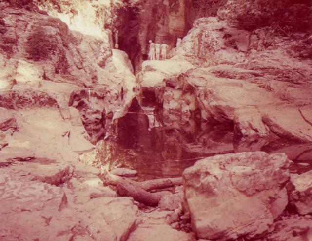 В ущелье большого Агурского водопада