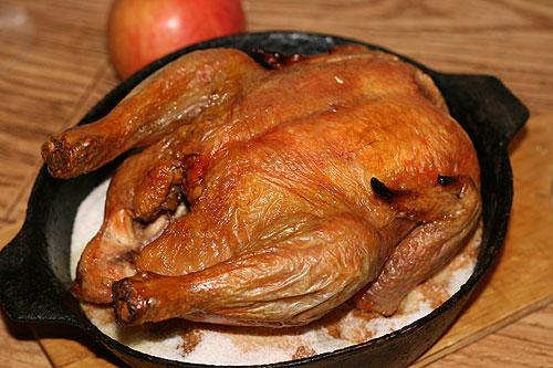 Курица на соли рецепт с фото
