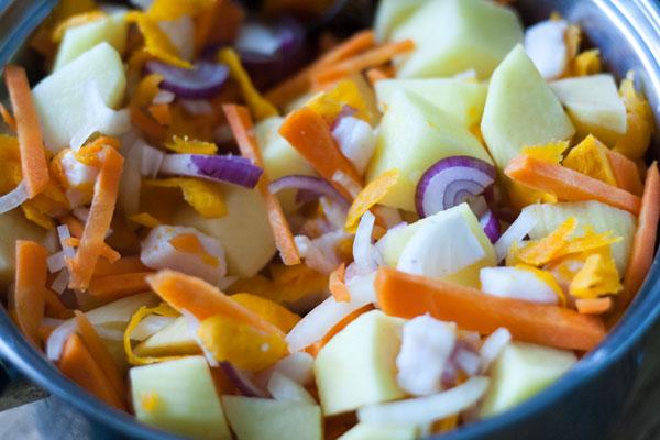 смесь овощей для начинки