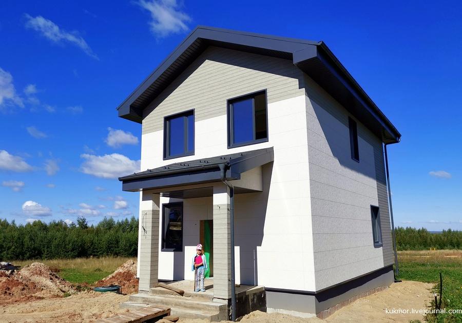 Готовые дома с отделкой в коттеджном поселке в Казани. Литл Токио - дома с