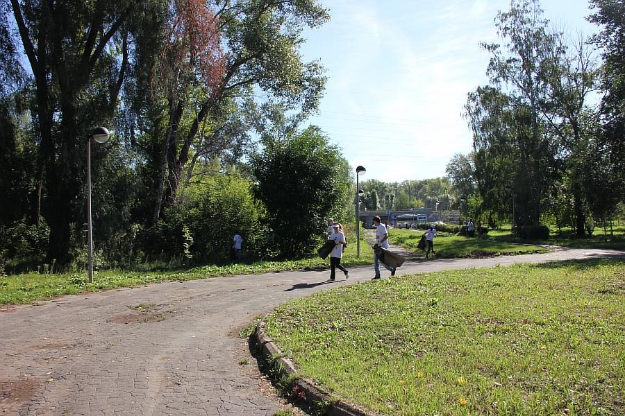 Парк Молодоженов Казань Блогер против мусора 2012 Зеленый парк  09