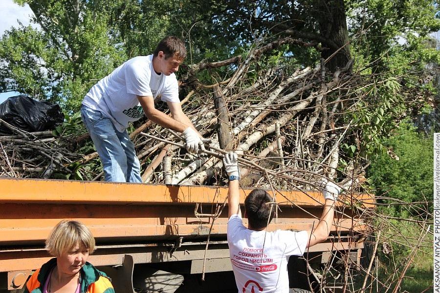Парк Молодоженов Казань Блогер против мусора 2012 Зеленый парк  26