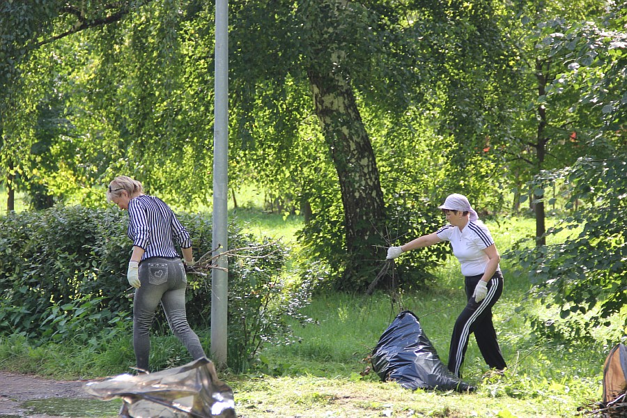 Парк Молодоженов Казань Блогер против мусора 2012 Зеленый парк  31