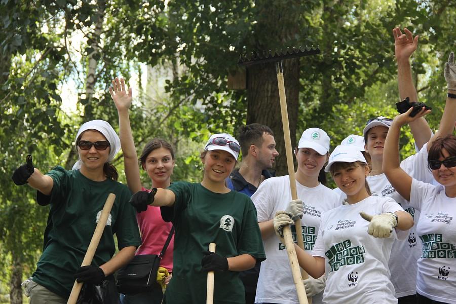 Парк Молодоженов Казань Блогер против мусора 2012 Зеленый парк  38