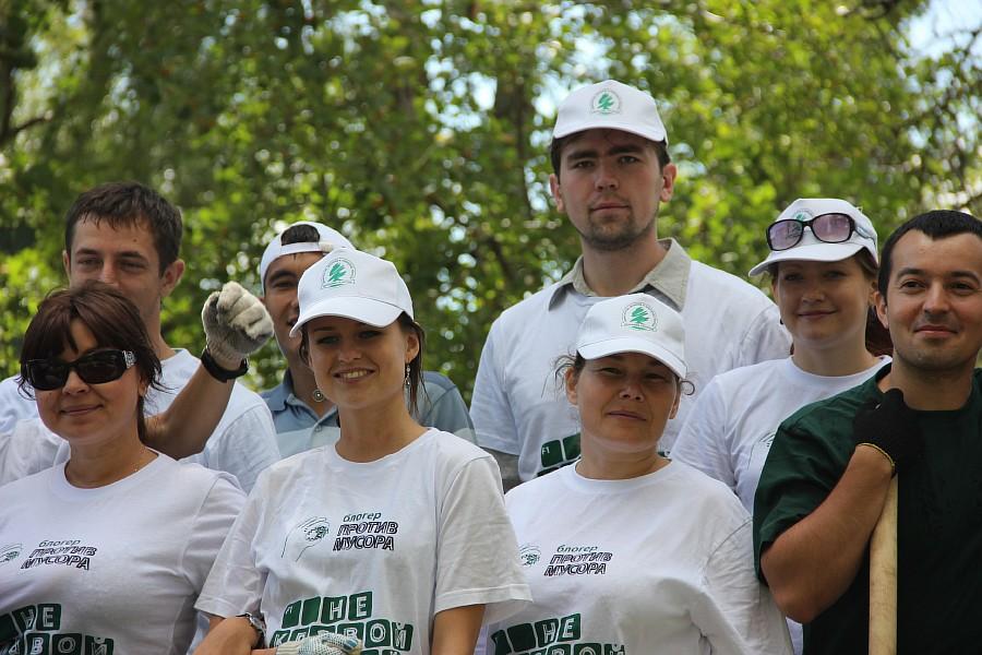 Парк Молодоженов Казань Блогер против мусора 2012 Зеленый парк  39