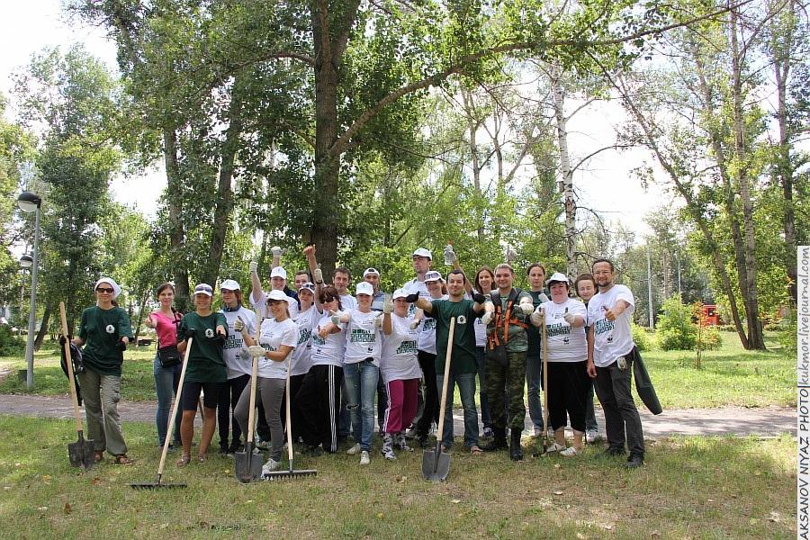 Парк Молодоженов Казань Блогер против мусора 2012 Зеленый парк  40