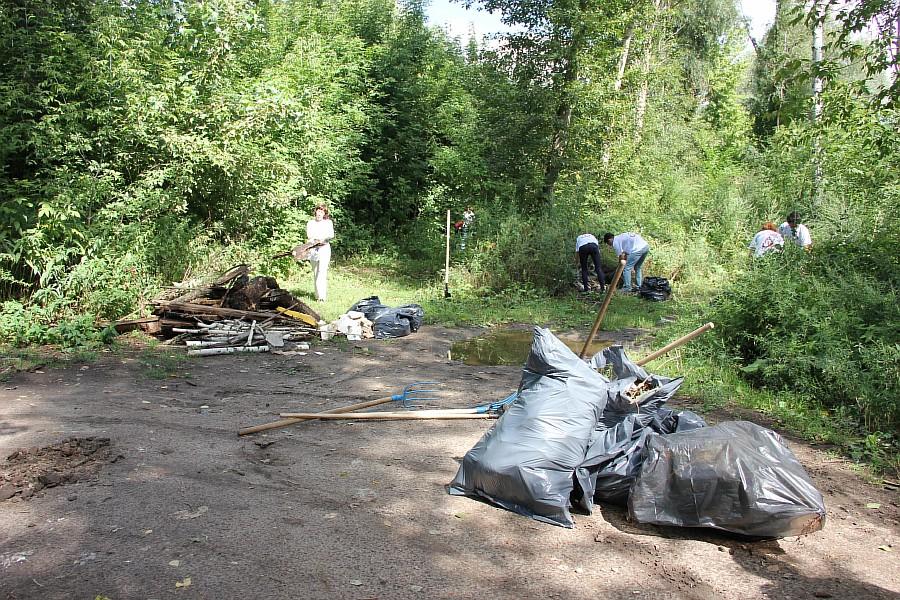Парк Молодоженов Казань Блогер против мусора 2012 Зеленый парк  41