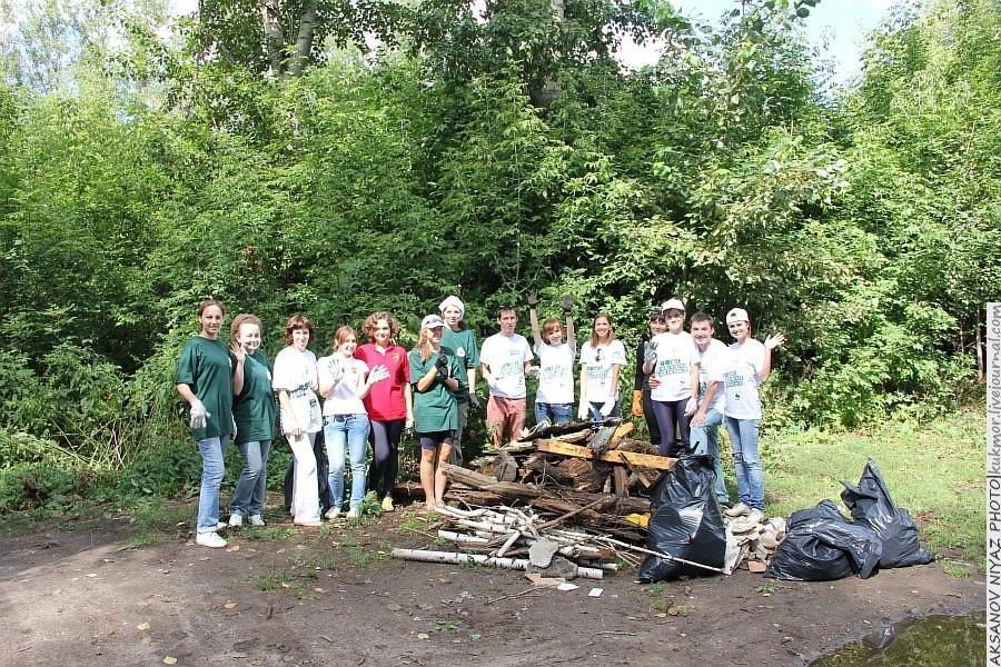 Парк Молодоженов Казань Блогер против мусора 2012 Зеленый парк  43