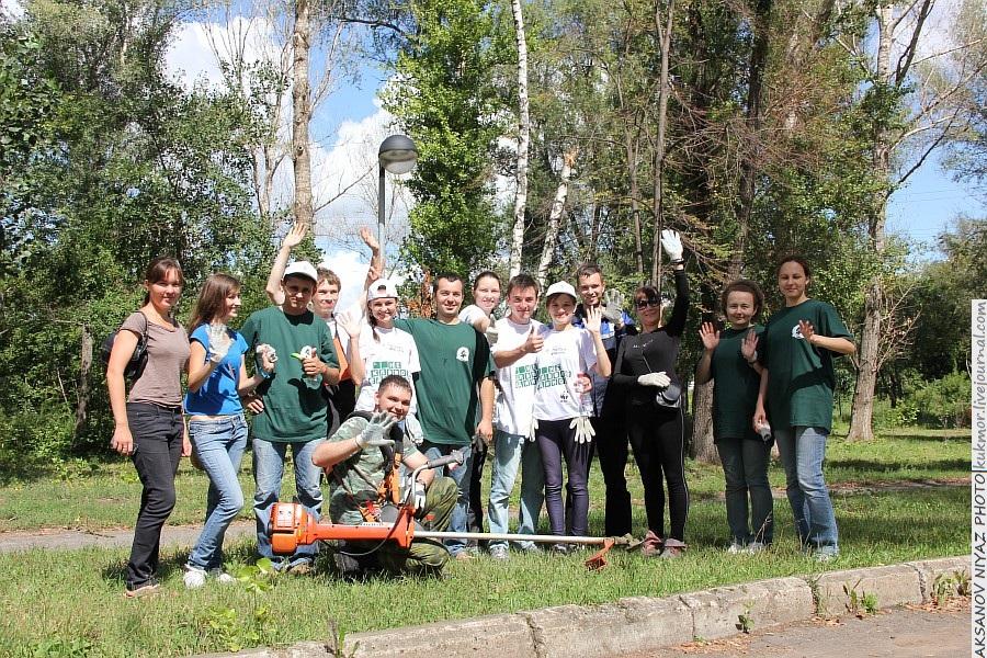 Парк Молодоженов Казань Блогер против мусора 2012 Зеленый парк  58
