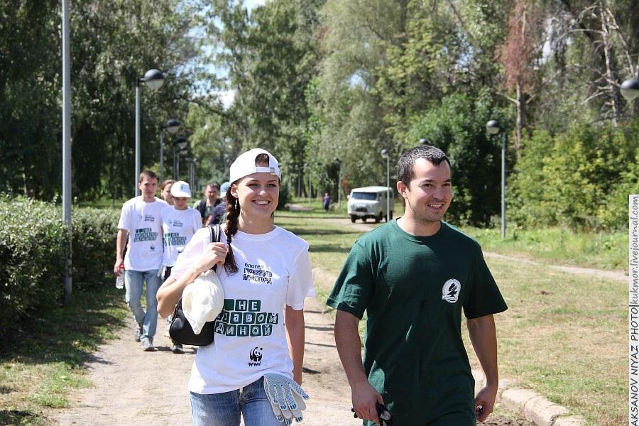 Парк Молодоженов Казань Блогер против мусора 2012 Зеленый парк  60