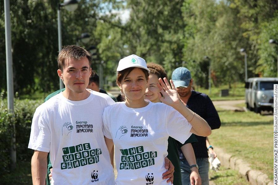 Парк Молодоженов Казань Блогер против мусора 2012 Зеленый парк  61