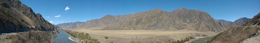 Панорама, Алтай, горы, природа, путешествия, фотография, Аксанов Нияз, kukmor, жж, красота, Катунь, Чуя, река, of WP_20140427_10_50_17_Panorama