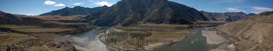 Панорама, Алтай, горы, природа, путешествия, фотография, Аксанов Нияз, kukmor, жж, красота, Катунь, Чуя, река, of WP_20140427_12_05_23_Panorama