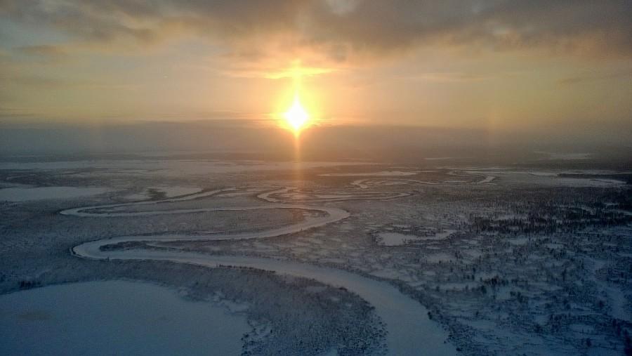 Новый Уренгой, термокарстовое газовое месторождение, бурение скважины, фотографии Аксанов Нияз, тундра, закат, of IMG_0674
