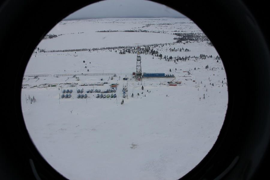 Новый Уренгой, термокарстовое газовое месторождение, бурение скважины, фотографии Аксанов Нияз, тундра, закат, of IMG_1511
