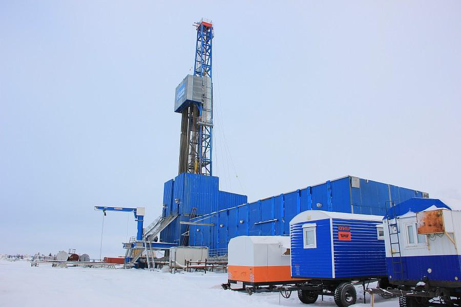 Новый Уренгой, термокарстовое газовое месторождение, бурение скважины, фотографии Аксанов Нияз, тундра, закат, of IMG_1551