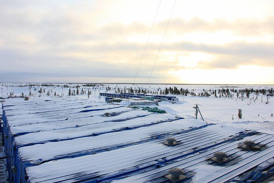 Новый Уренгой, термокарстовое газовое месторождение, бурение скважины, фотографии Аксанов Нияз, тундра, закат, of IMG_1767