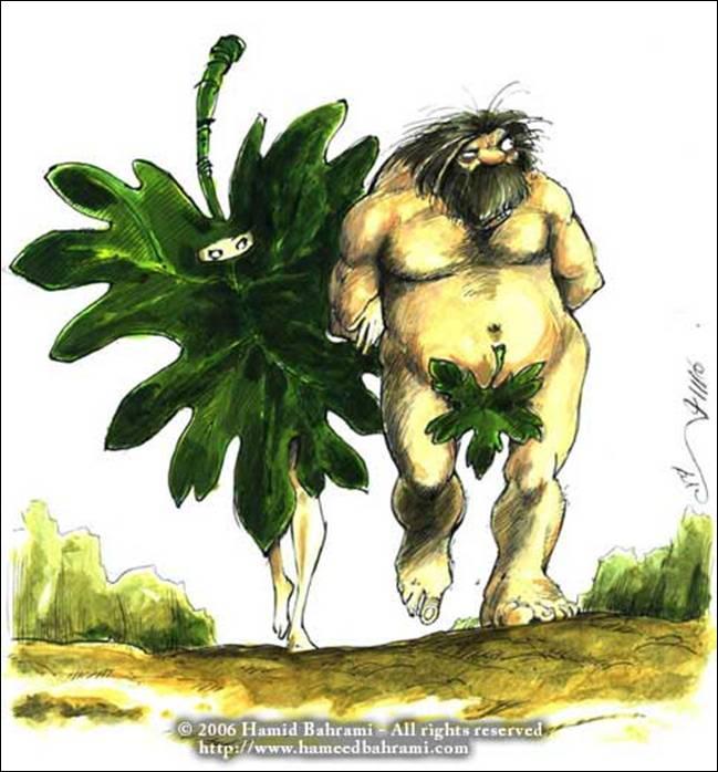 Адам и Ева...исламский вариант...;-) (в комментах уже жгут)))