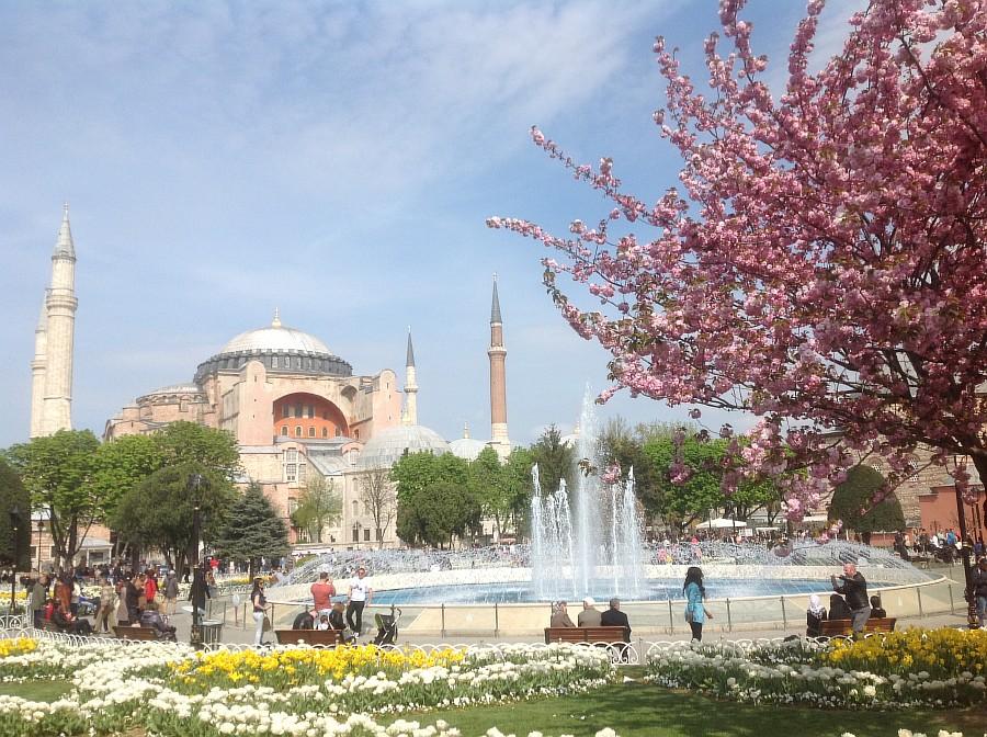 Весна. Стамбул. Айя-София