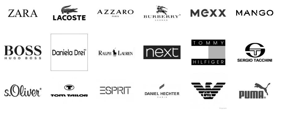 известные марки одежды в картинках окон отеля открывается