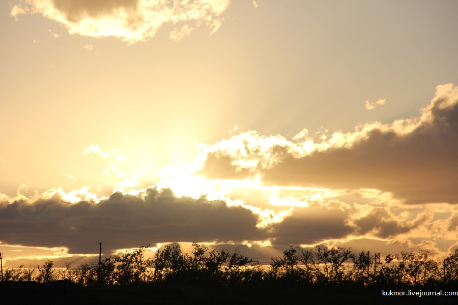 Закат в Хакасии