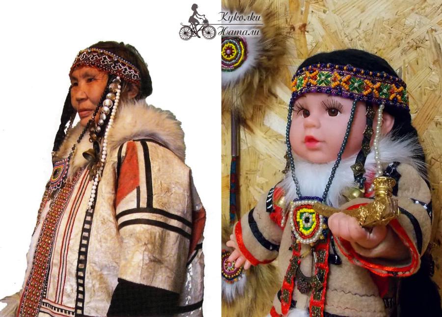 Традиционная женская одежда нганасан