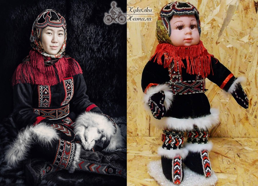 Традиционный костюм женщины-долганки