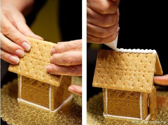 Домики из печенья своими руками