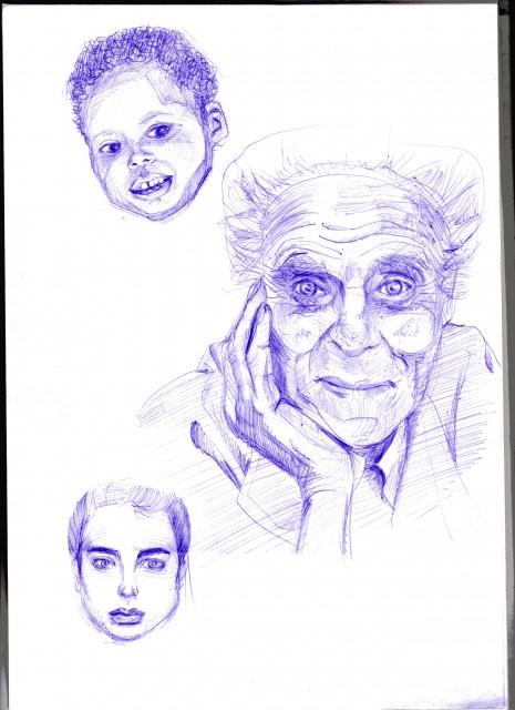 рисуонок портреты