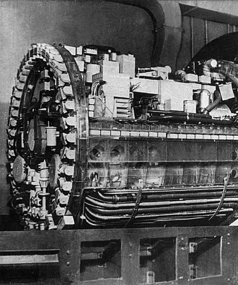 Макет блока паротурбинной установки ОК-7 подводной лодки проекта 705 - 1