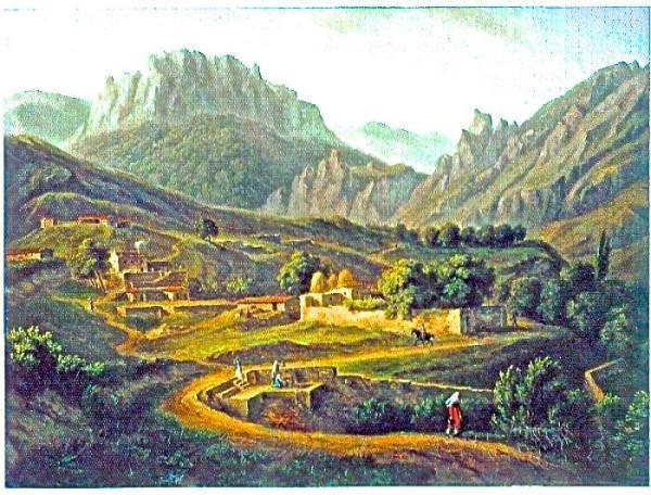 Жак-Кристоф_Мивилль_Вид_деревни_Кусс_али_Косс_в_Крыму._1814