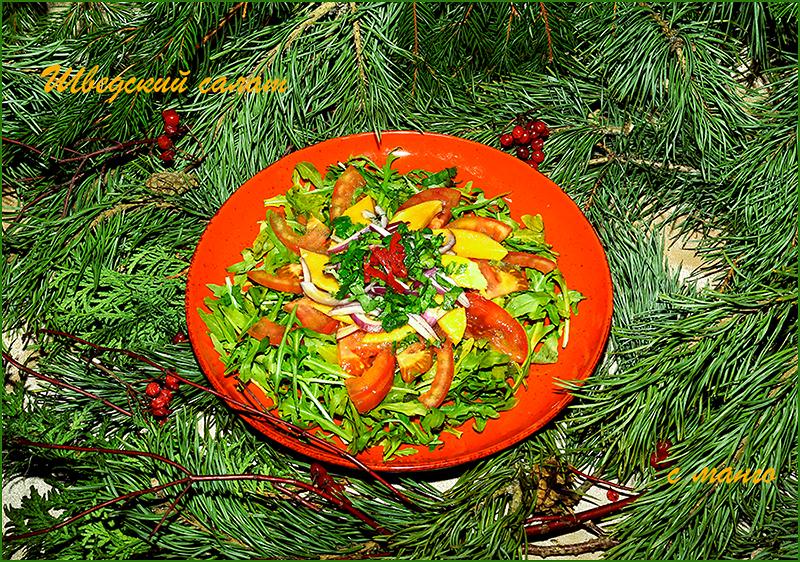 Салат с манго и помидорами (Шведская кухня)