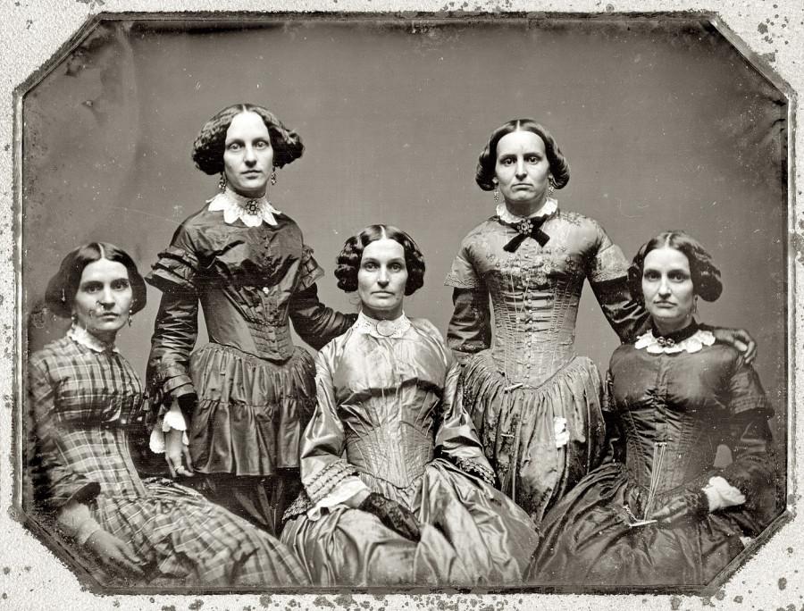 The Clark sisters circa 1850
