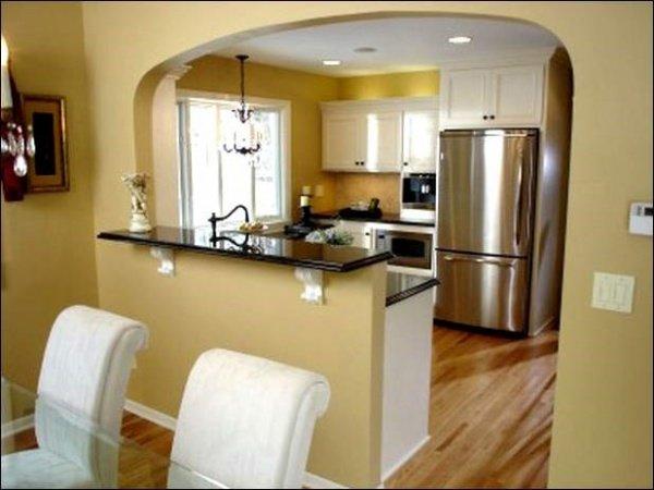 Фото дизайна арок на кухне