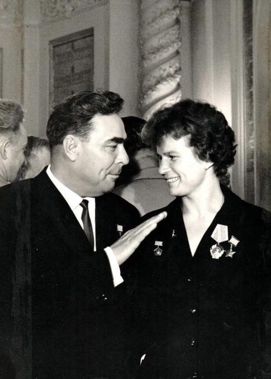 Терешкова и Брежнев