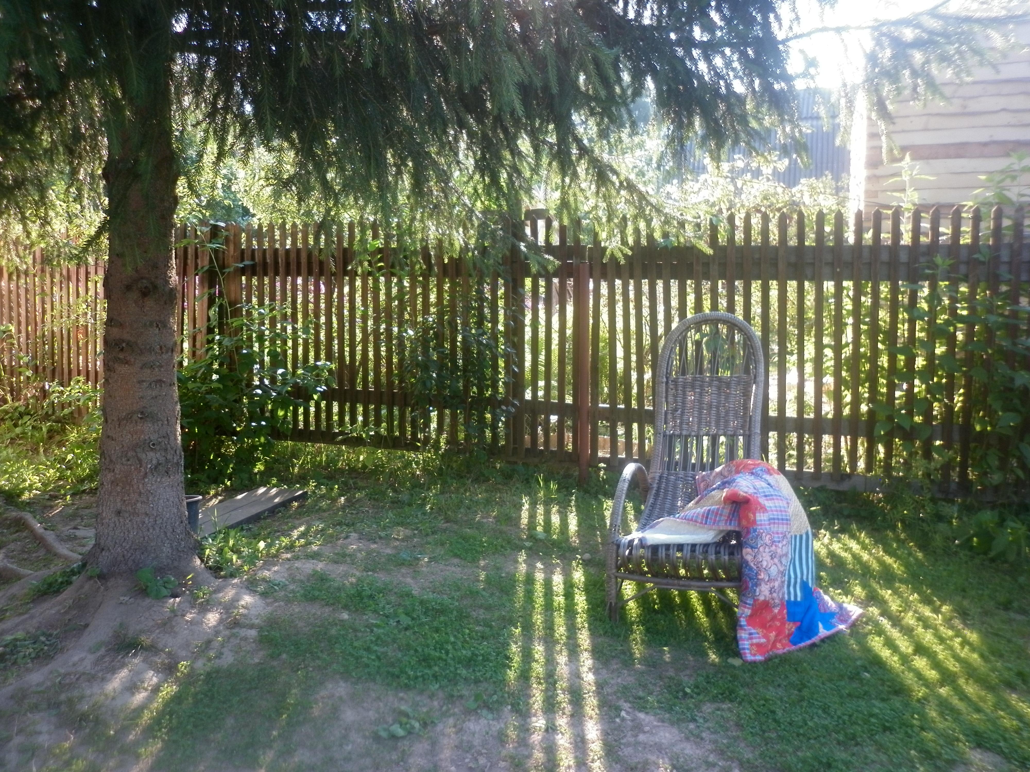 кресло под елкой