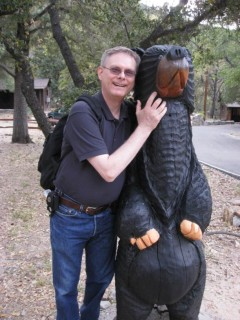 John  makes friends with the wildlife